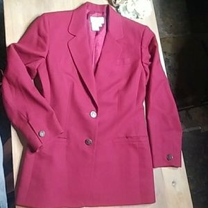 Talbots Deep Beick Red Wool Blazer